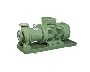 Magnetic pump with plastic lining